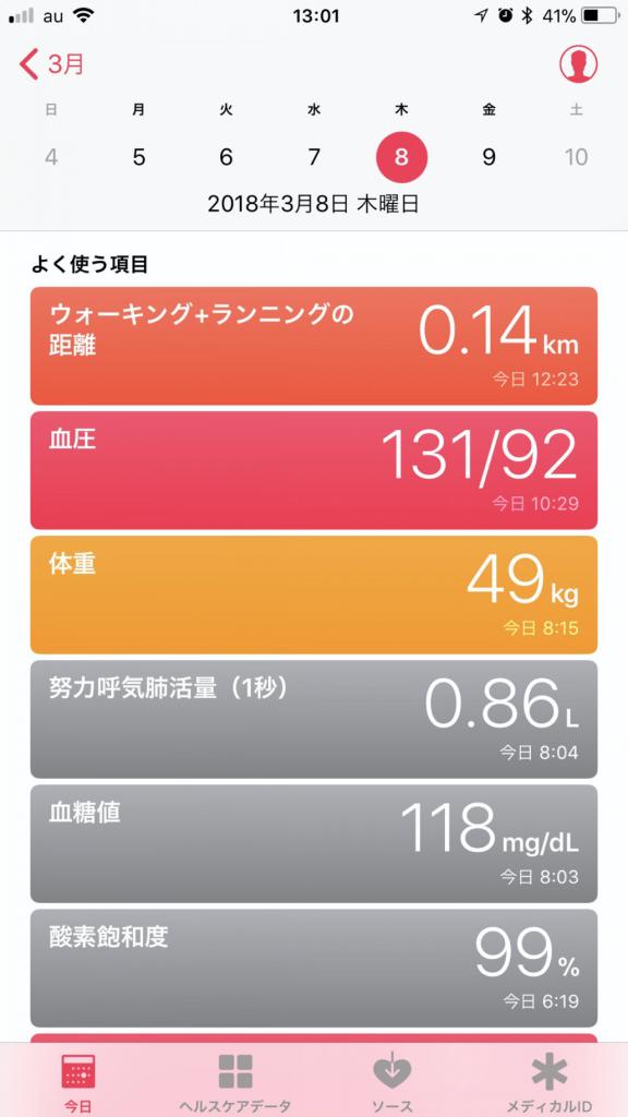 iPhoneで健康管理